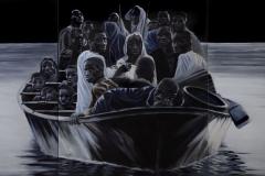 Refugees I, 120 cm x 260 cm (3-teilig)