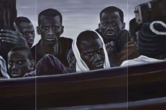 Refugees II, 120 cm x 260 cm (3-teilig)