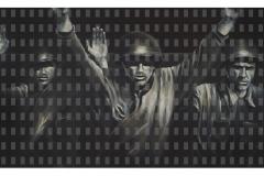 Peace be with you, 100 cm x 190 cm, Acryl und Digitaldruck/Leinwand