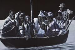 Refugees VI, 160 x 200 cm, 2-teilig, Acryl/Leinwand