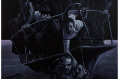 Refugees VII, 2018, 200 cm x 160 cm , 2-teilig, AcrylLeinwand