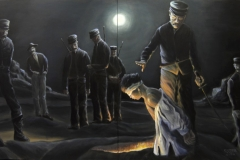 Beheading Watchers, 2014, 120 cm x 200 cm (2-teilig)