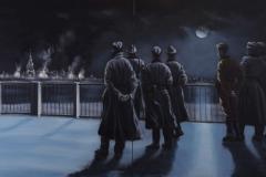 Bomb Watchers VI, 2014, 120 cm x 200 cm (2-teilig)