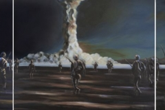 BombFighters, 2014, 100 cm x 360 cm (Triptychon)