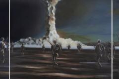 BombFighters, 2014, 100 cm x 360 cm (Triptychon)